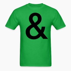 Bright green Your Basic Ampersand T-Shirts