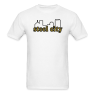 T-Shirts ~ Men's T-Shirt ~  Steel City T-shirt  Metallic Gold/Black