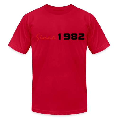 1982- YELLOW - Men's Fine Jersey T-Shirt