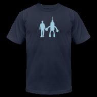 T-Shirts ~ Men's T-Shirt by American Apparel ~ Blue on Blue