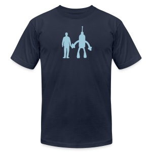 Blue on Blue - Men's T-Shirt by American Apparel