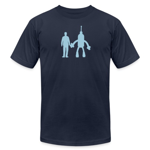 Blue on Blue - Men's Fine Jersey T-Shirt