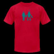T-Shirts ~ Men's T-Shirt by American Apparel ~ Light Blues