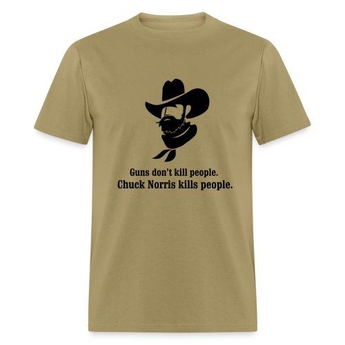 Guns don't kill people, Chuck Norris kills people. - Men's T-Shirt