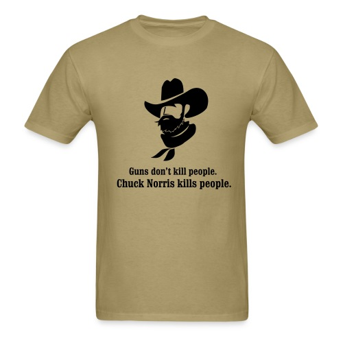 Guns don't kill people, Chuck Norris kills people. - Men's T-Shirt