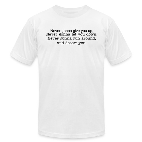 Rick Roll'd - Men's Fine Jersey T-Shirt