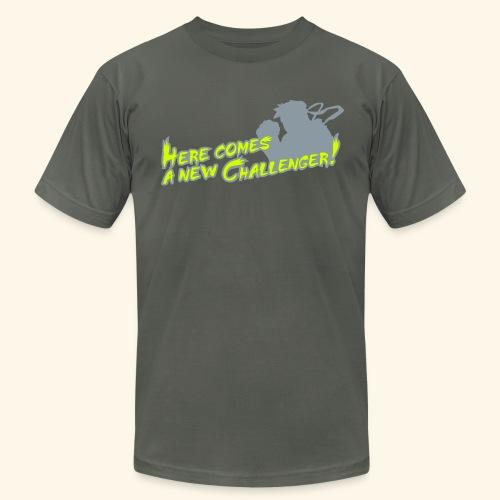 Here comes a new challenger! (neonprint) - Men's Fine Jersey T-Shirt