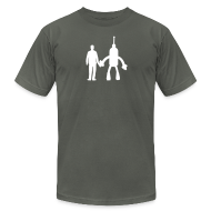 T-Shirts ~ Men's T-Shirt by American Apparel ~ Gray and White