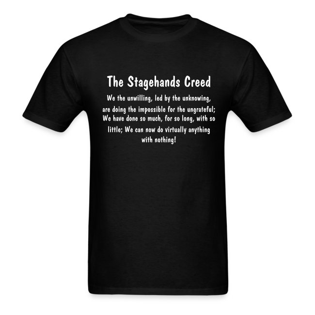 Stagehands Creed