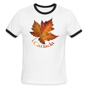 Canada Souvenir Men's T-Shirts Maple Leaf T-shirts - Men's Ringer T-Shirt