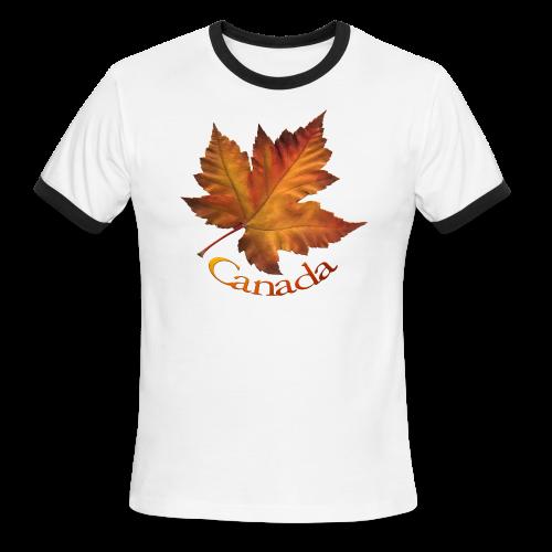 Canada Souvenir Men's T-Shirts Maple Leaf T-shirts - Men's Ringer T-Shirt