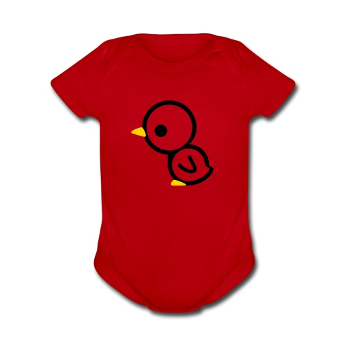 chick - Organic Short Sleeve Baby Bodysuit