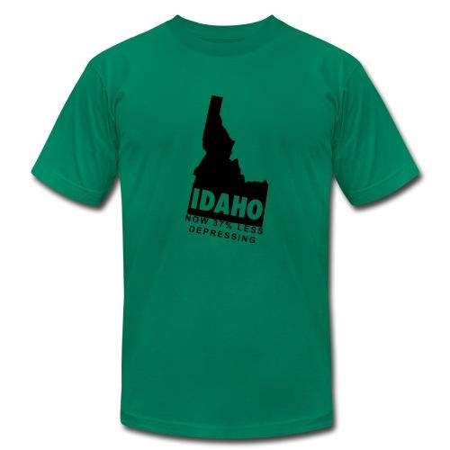 Idaho.  Now 37% Less Depressing. - Men's Fine Jersey T-Shirt