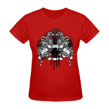 Red vintage designer tshirts design Women's T-shirts