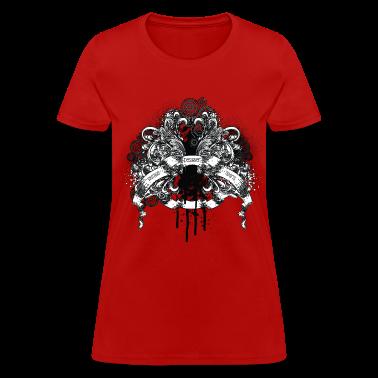 Red vintage designer tshirts design Women's T-shirts