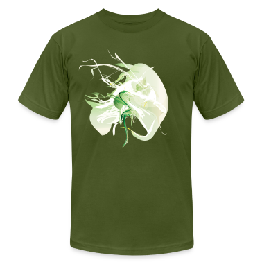 Olive Cool Green Smoke Graphic T-Shirts