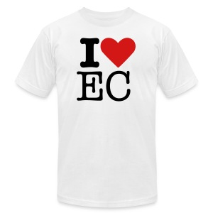i heart EC white - Men's T-Shirt by American Apparel