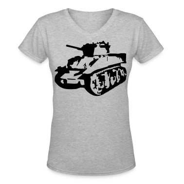 Gray Military Tank Women's T-shirts