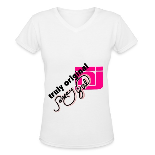 jerszy girl truly original tee - Women's V-Neck T-Shirt