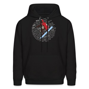 Snowboard Air Tricks List Design - Men's Hoodie