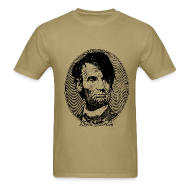 T-Shirts ~ Men's T-Shirt ~ Emo Lincoln (Guy's Tan)