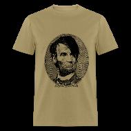 T-Shirts ~ Men's T-Shirt ~ Emo Lincoln (Guy's Tan)
