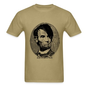 Emo Lincoln (Guy's Tan) - Men's T-Shirt