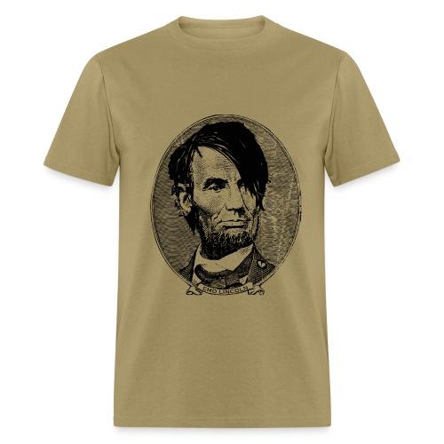 Emo Lincoln (Guy's Tan) - Men's T-Shirt