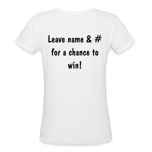 Name & # White - Women's V-Neck T-Shirt