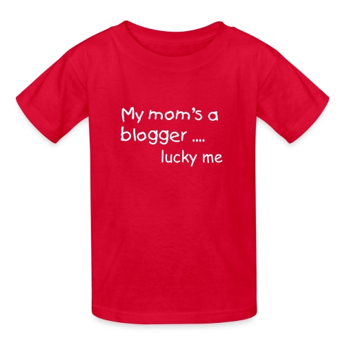 My mom's a blogger - Kids' T-Shirt