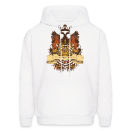 Hoodies ~ Men's Hoodie ~ Vintage Designer Tshirts.com Logo Heraldy Crest