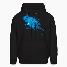 Black Painting designer Ice Graphic   Hoodies