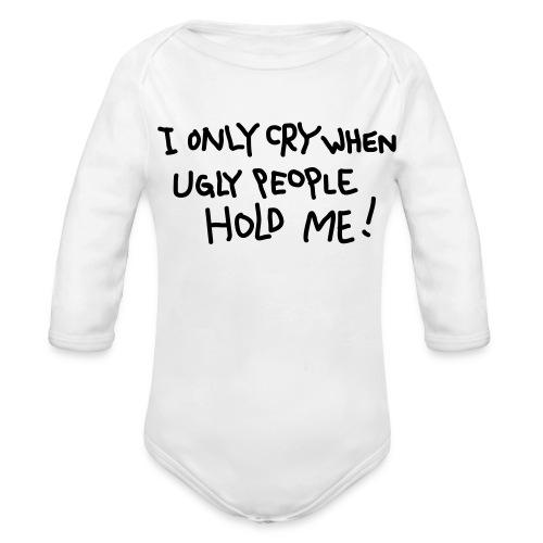 Ugly People - Organic Long Sleeve Baby Bodysuit