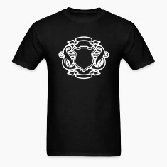 Black Add your Initial Golden Design T-Shirts