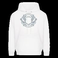 Hoodies ~ Men's Hoodie ~ Custom Letter Shield Design Hoodie