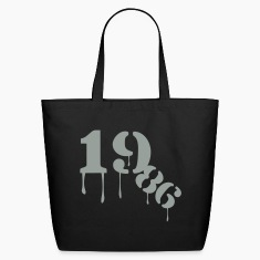 Black 1986_birthday_year Bags