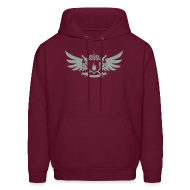 Hoodies ~ Men's Hoodie ~ Pyro Maniac With Swords Winged Crest Graphic