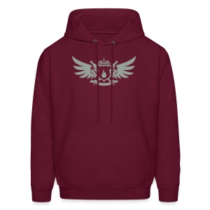 Pyro Maniac With Swords Winged Crest Graphic - Men's Hoodie