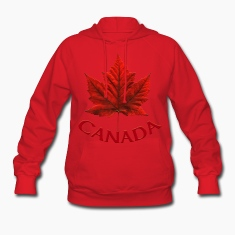 Canada Maple Leaf Souvenir Women's Hooded Canada Sweatshirt