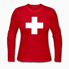 Red Swiss Long sleeve shirts