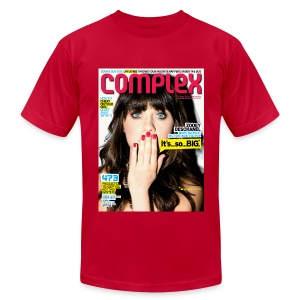 Zooey Deschanel Cover - Men's T-Shirt by American Apparel