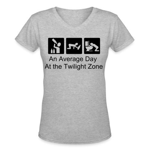An Average Day At the Twilight Zone - Women's V-Neck T-Shirt