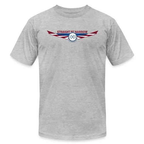 Men's Gray AA T - Men's Fine Jersey T-Shirt