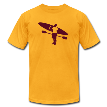 Gold river kayak and paddler outdoors T-Shirts