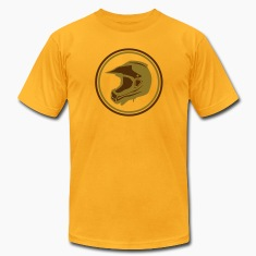 Gold Dirt bike graphic 2 color flex print T-Shirts