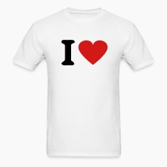 White I Heart T-Shirts