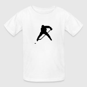 White hockey Kids Shirts - Kids' T-Shirt