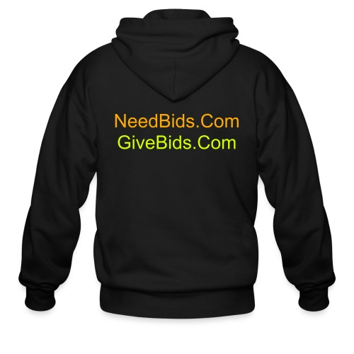 NeedBids/GiveBids.Com Men's Hooded Sweater - Men's Zip Hoodie