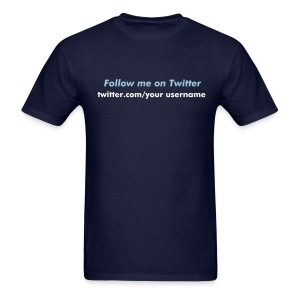 Follow me on Twitter - Men's T-shirt - Men's T-Shirt