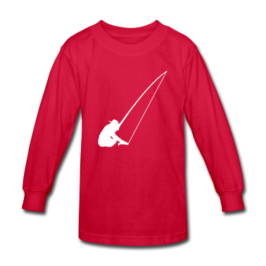 Red Fishing Kids Shirts